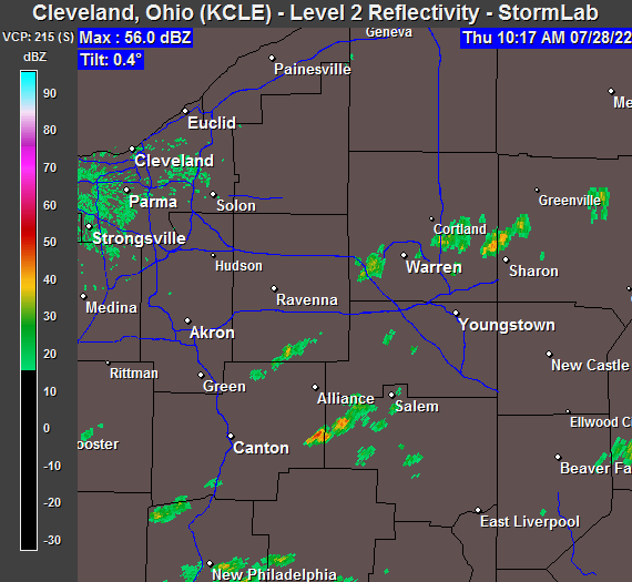 Live StormLab Radar for KCLE
